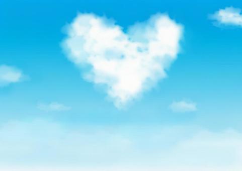 A blue sky with hearts 2