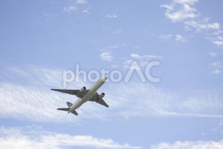 飛行機と空10の写真
