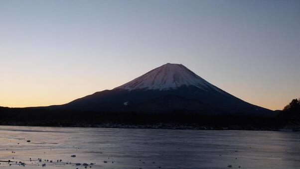Fuji Red Fuji before dawn