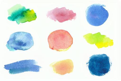 Texture set of watercolor paint