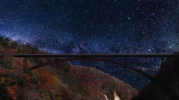 Nature starry sky