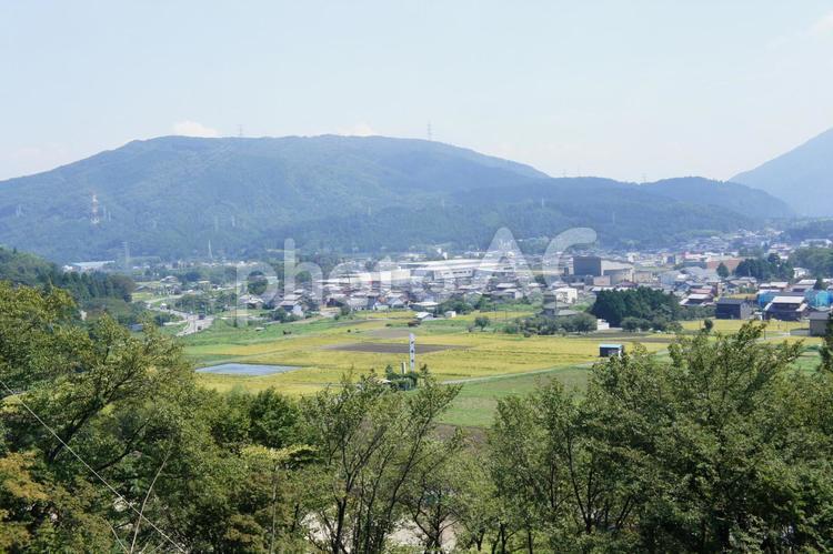 笹尾山より関ケ原決戦地を望むの写真