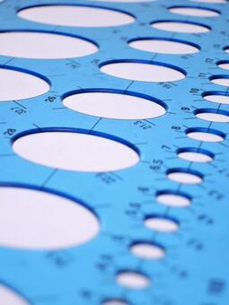 Drafting image Circle ruler