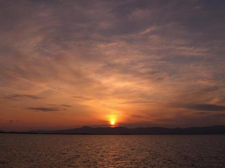 Sunset of Lake Biwa 005