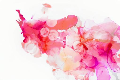 Alcohol ink art_pink