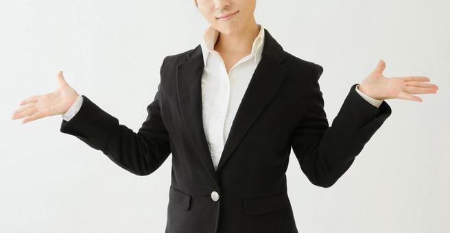 Business awkward business woman