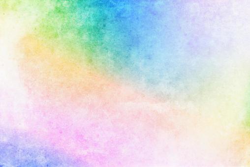 水彩風格彩虹色模糊背景柔和的顏色粉紅色藍色日本紙風格