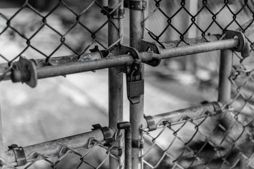 Cage (wire mesh / key) monochrome