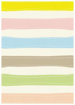 质地柔和的彩色边框