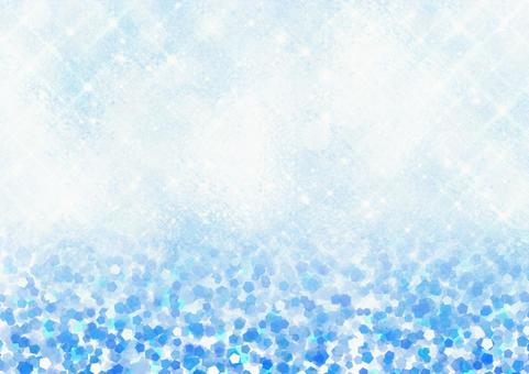 Cube glass glossy background and glitter style illustration background material (blue)