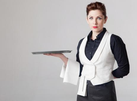 Foreign women waitress 3