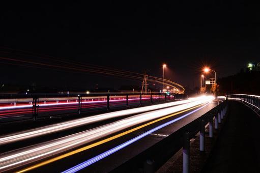 Night traffic image