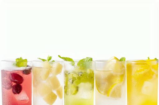 Drink image with fruit motif