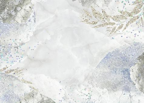 Background Texture Marble Hologram Glitter Lame Frame Silver Foil Art