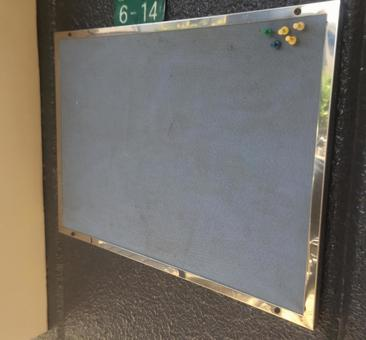 Old bulletin board thumbtack
