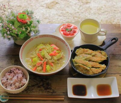 라면과 만두