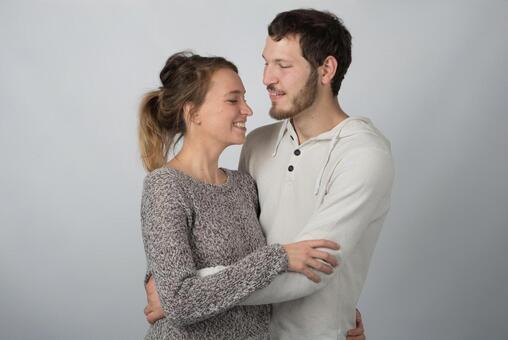Embracing couple 12