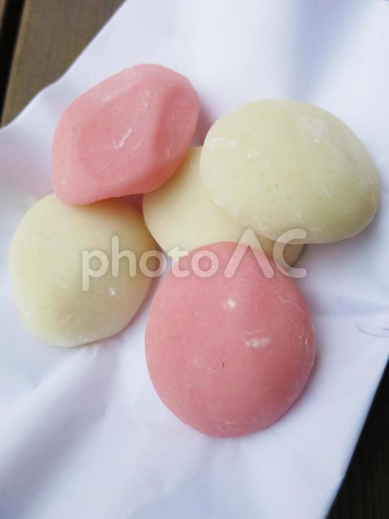 紅白餅の写真