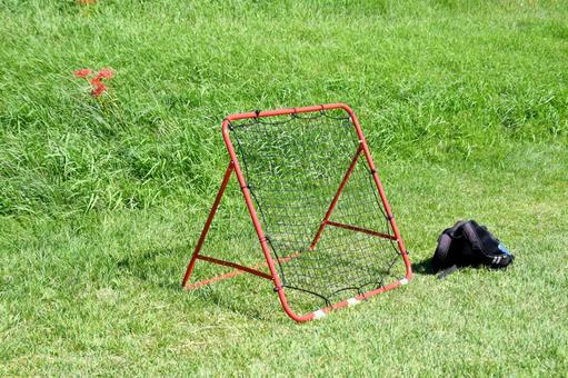 Rebound net soccer voluntary training
