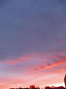 Red cloud dusk