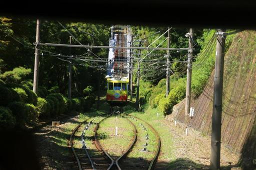 Mid point of Takao Cable Car