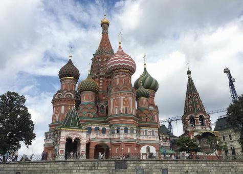 성 바실리 사원, 붉은 광장, 모스크바, 러시아.