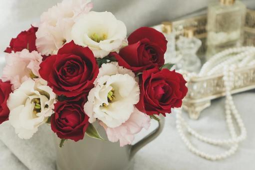 Rose and Turkey bellflower