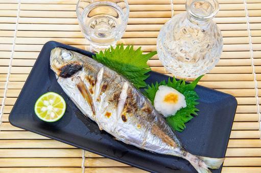 鹽烤竹莢魚