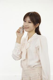 Female 2 with a cell phone