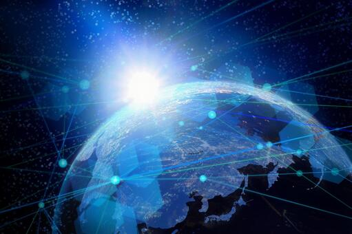 Earth and network image background material