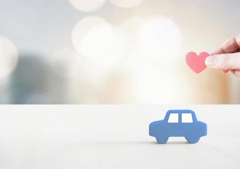 Car model and heart