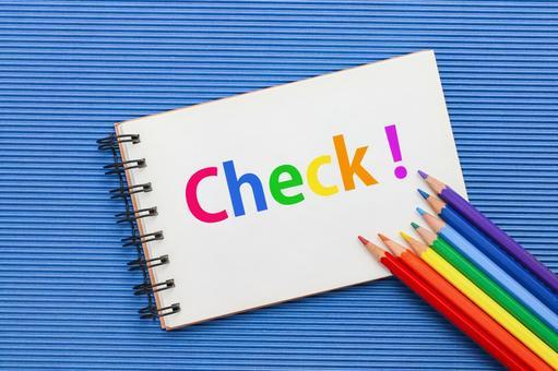 Check Sketchbook Colored pencils