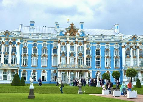 예카테리나 궁전, 푸쉬킨, 상트 페테르부르크, 러시아.