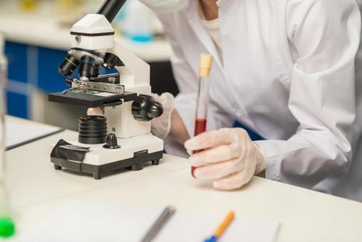 Microscope and test tube 2