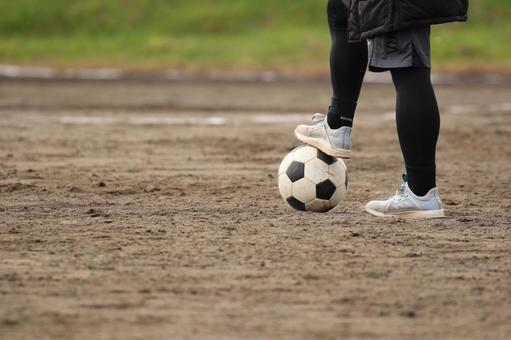 Soccer ball and youth