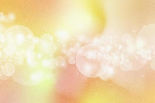 [Ideal for autumn!] Warm and glittering pearl-processed texture Ball bokeh Orange-based cute gradation