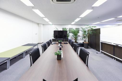 Office meeting room with green