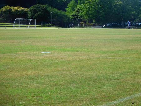 Vast soccer ground (practice scenery)