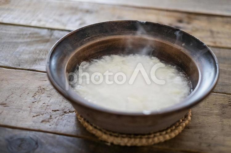 白米のおかゆの写真