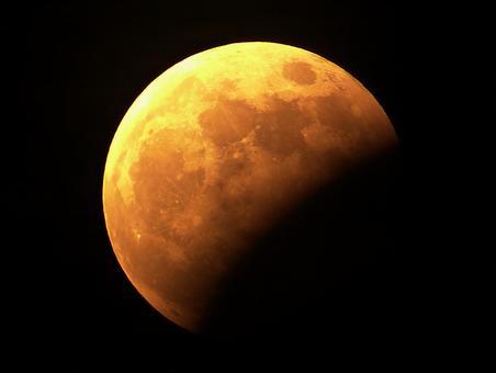 Partial lunar eclipse (aged 15.4)
