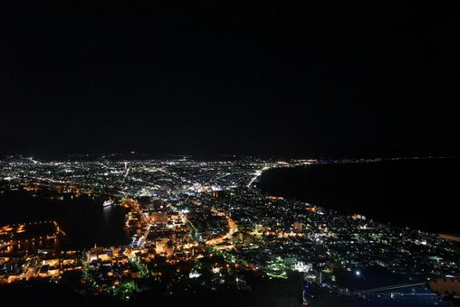 Hakodate night view in summer