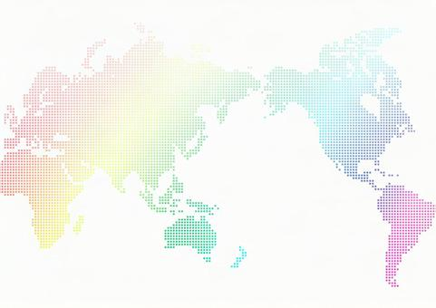 World map gradient iridescent