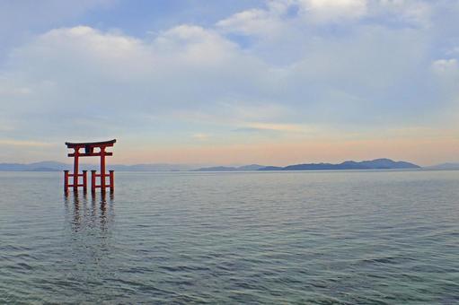 Shirahigi Shrine · Lake Middle Otorii 3