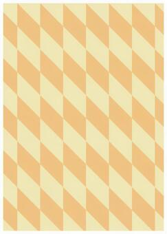 Geometric texture parallelogram beige