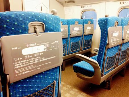 Shinkansen seat 03