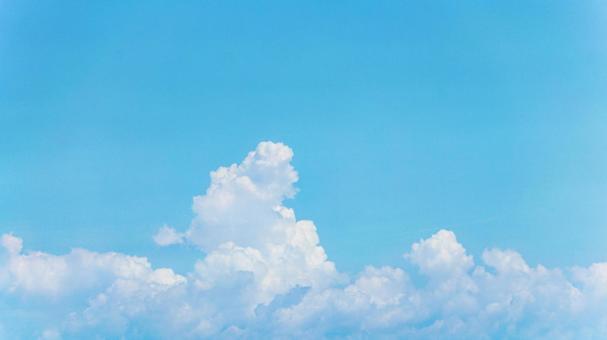 Cumulonimbus summer sky background