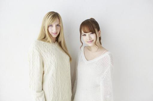 Female friend Foreigner and Japanese 4