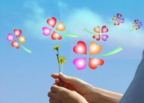 Dandelion and Four Leaf Clover 2