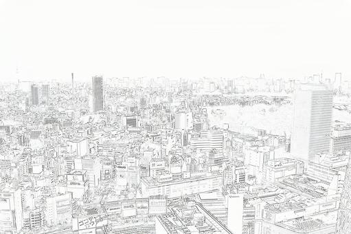 City view sketch