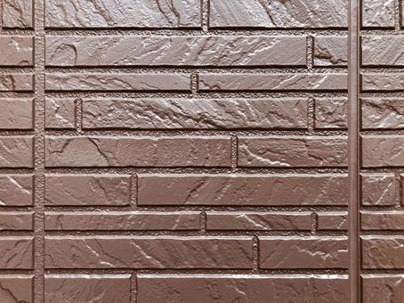 Chocolate color exterior wall texture